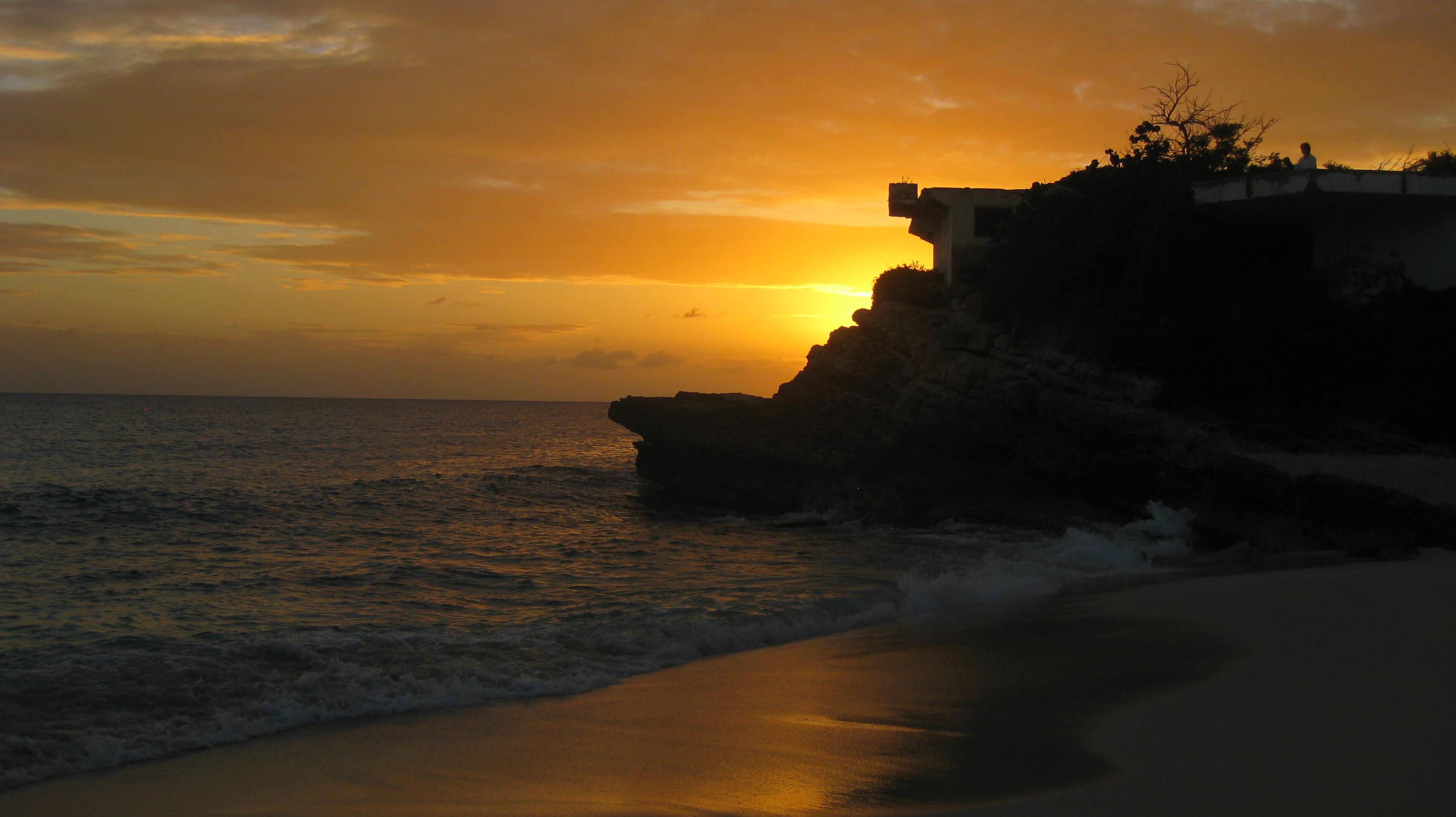 Mullet Bay at Sunset