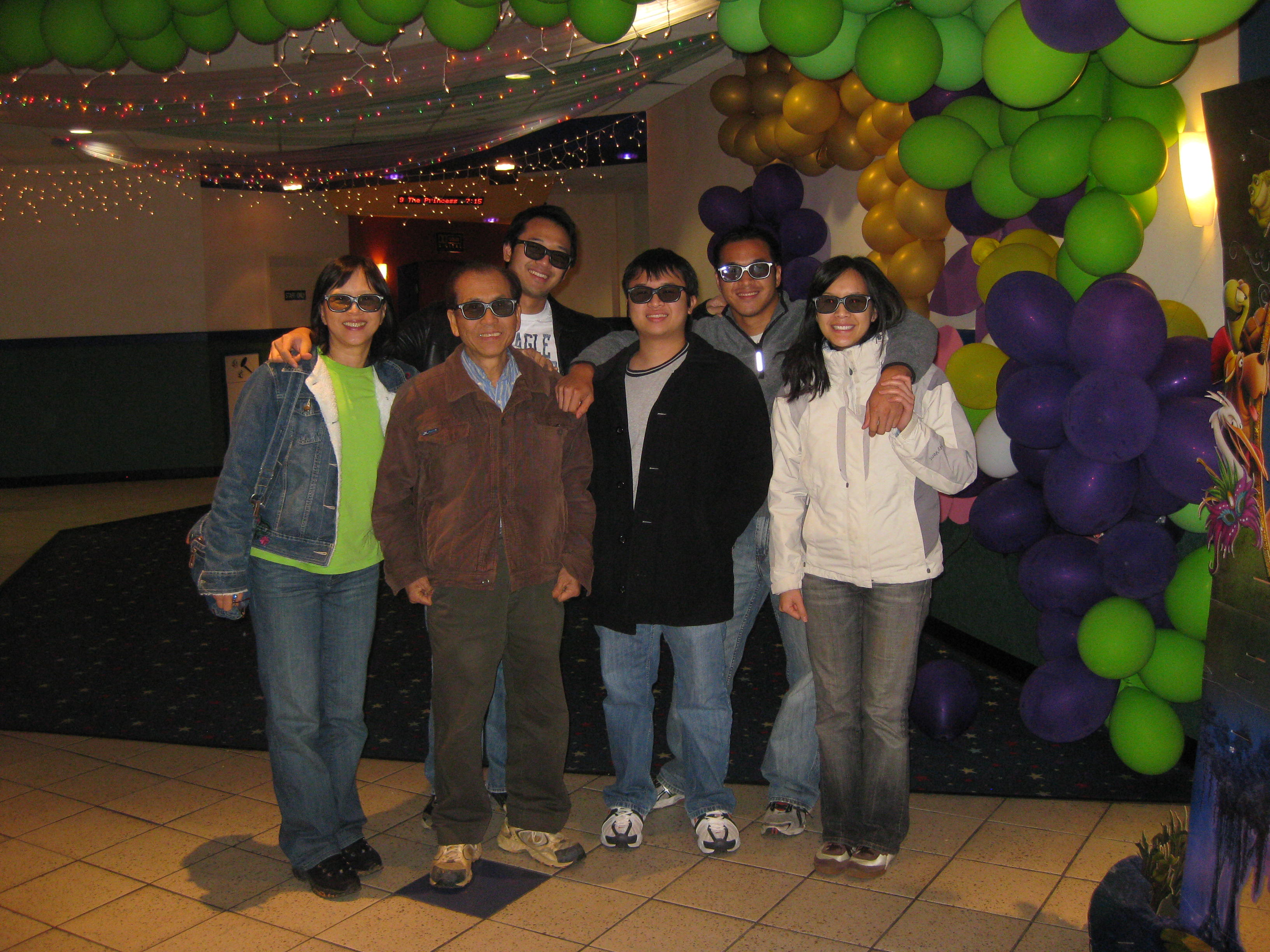 My family and I going to see Avatar in 3-D!! Very good movie by the way!