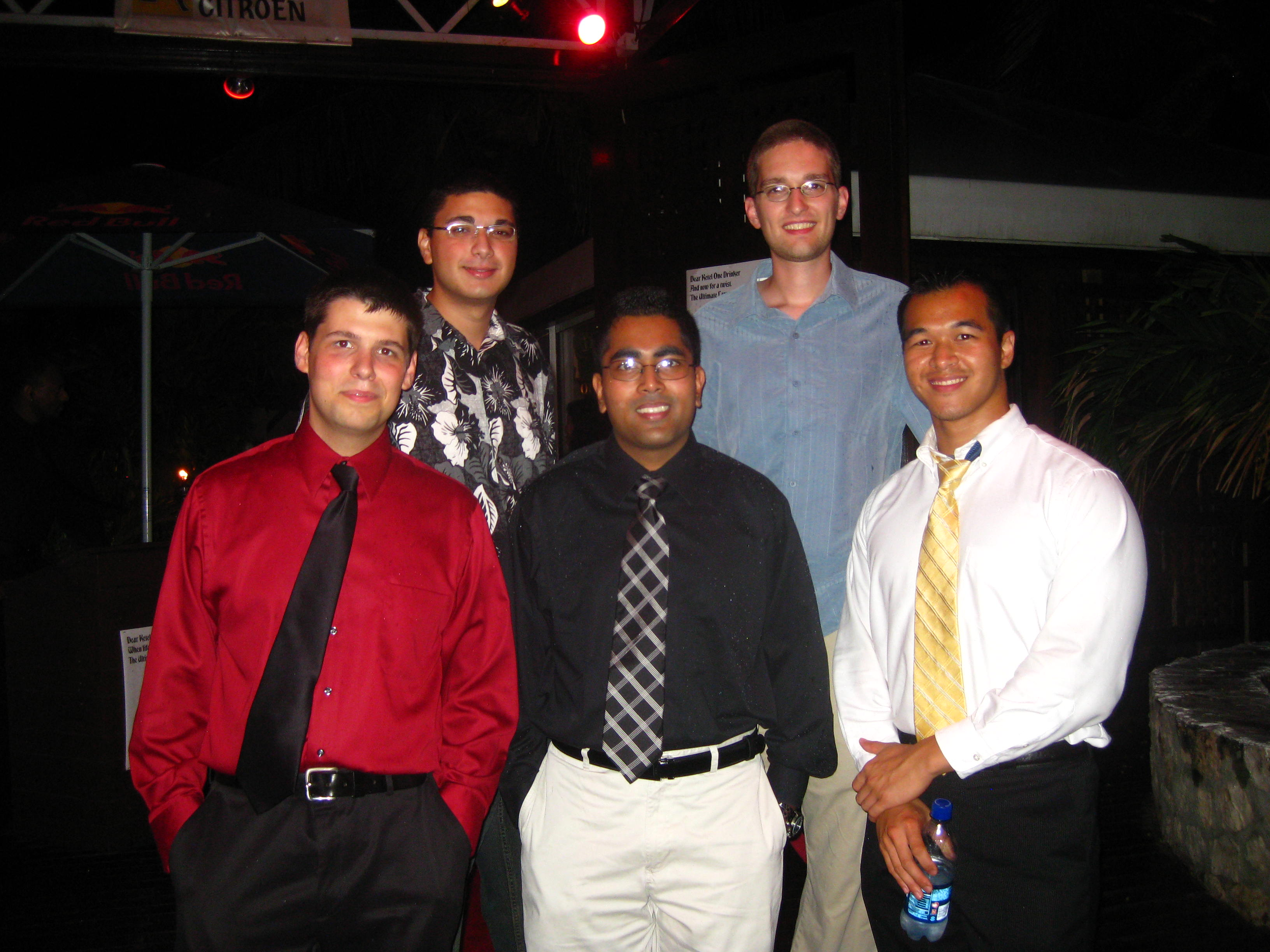 Mina, Chris, Josh, Arif and I at the White Coat Reception at Bliss.