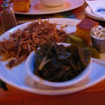 Pulled Pork, Collard Greens, and Corn Bread