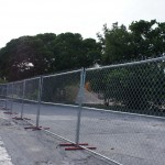 Fencing at the demolition site