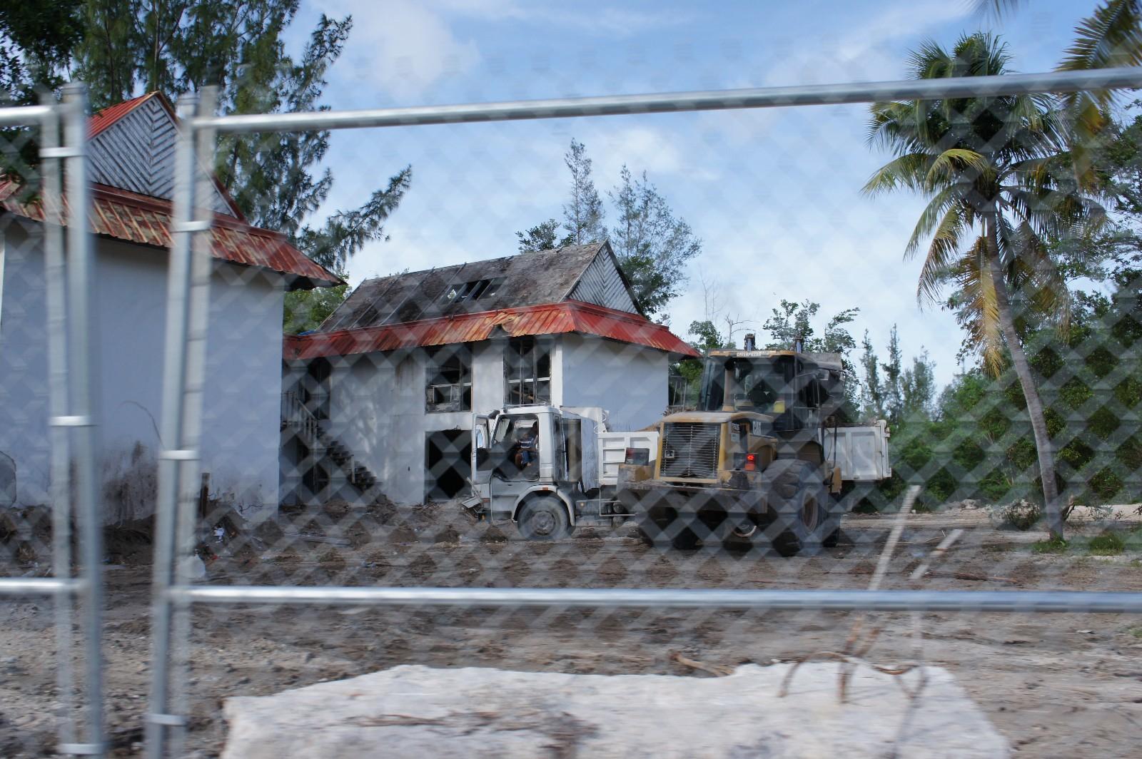 demolition in progress...