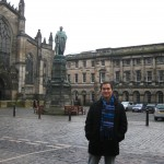 On the Royal Mile in Edinburgh