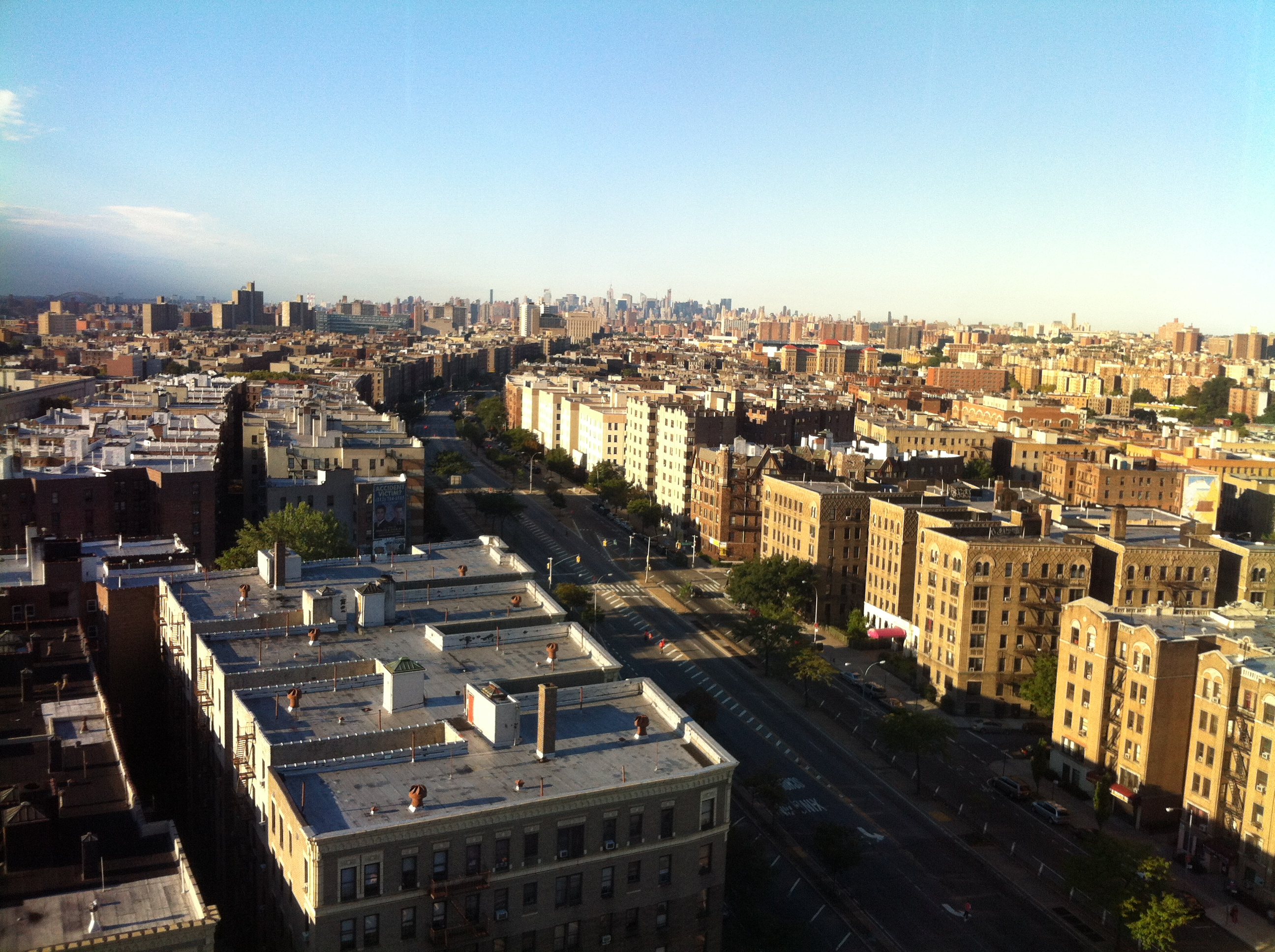 View of NYC from the Family Medicine Unit at Bronx-Lebanon Hospital