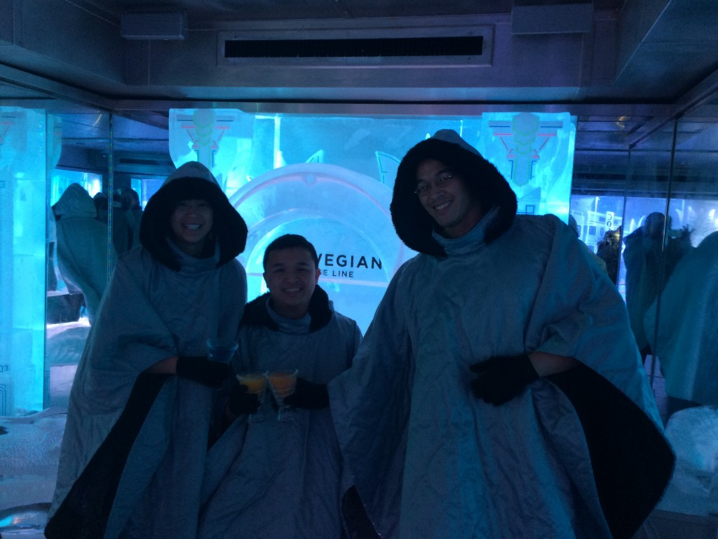 At the Ice Bar on the ship... even our cups were made of ice!
