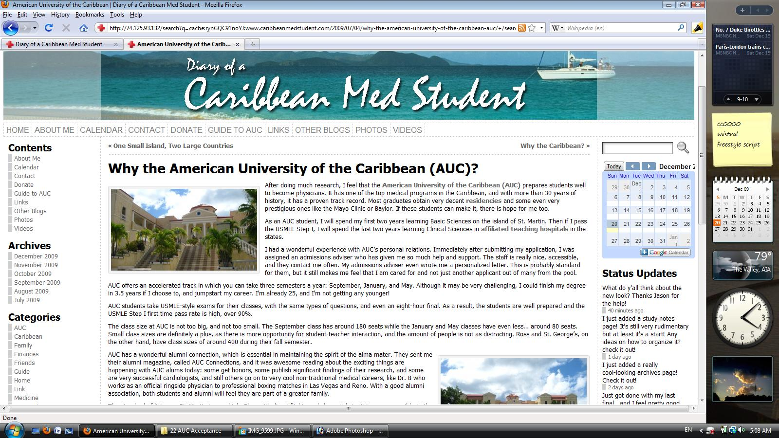 The Many Faces of Diary of a Caribbean Med Student | Diary
