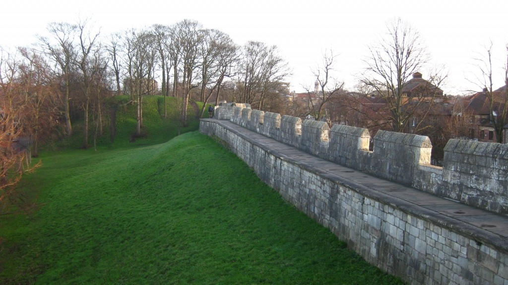 Old city walls of York