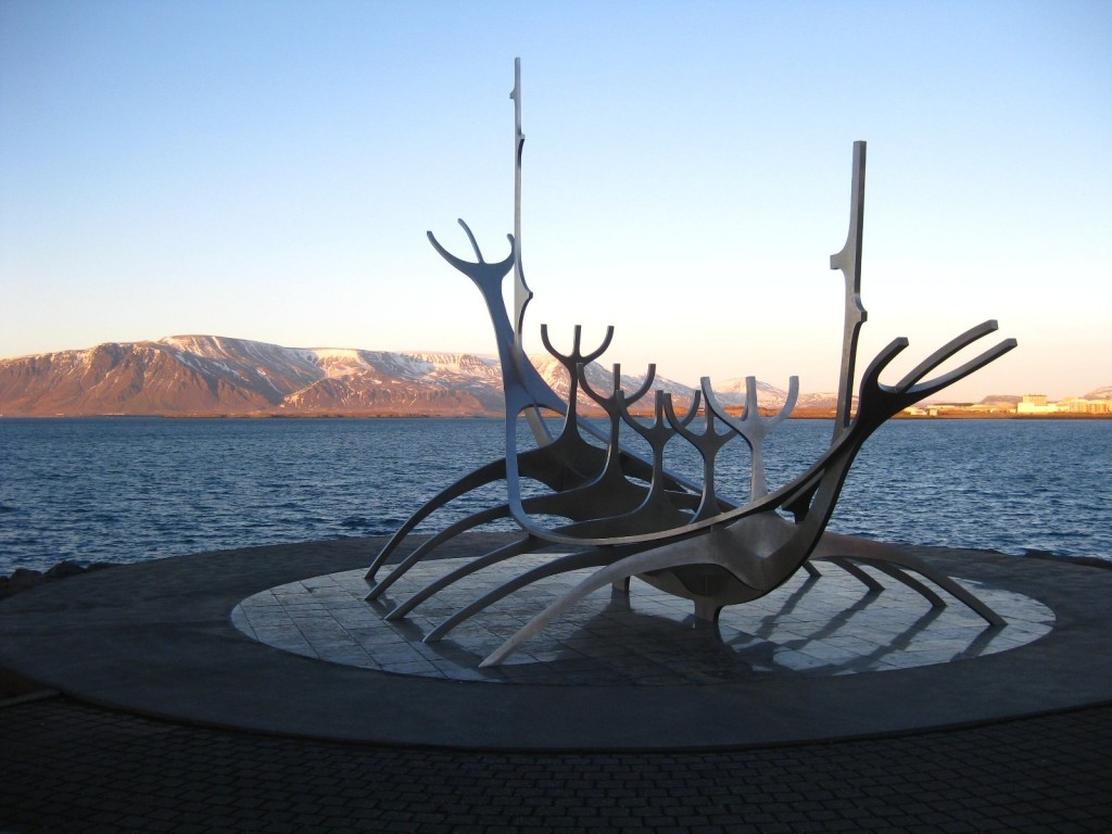 Viking ship sculpture