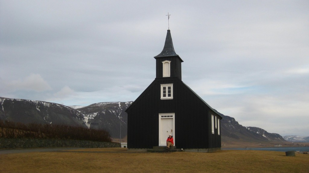 Small church in a village in Iceland