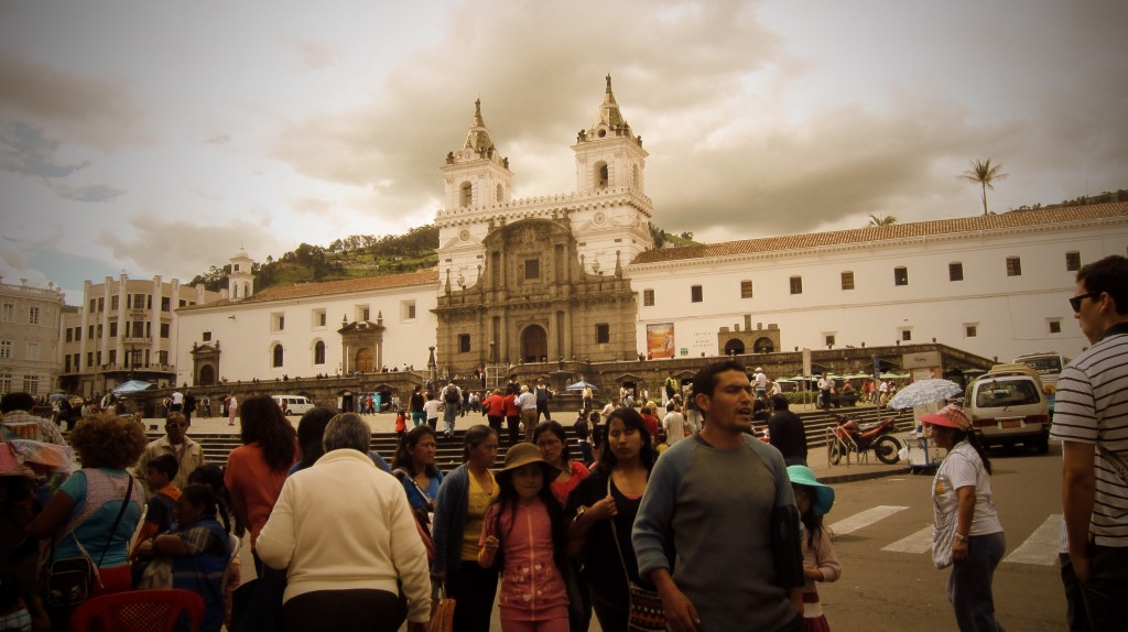 Plaza San Francisco in Quito.