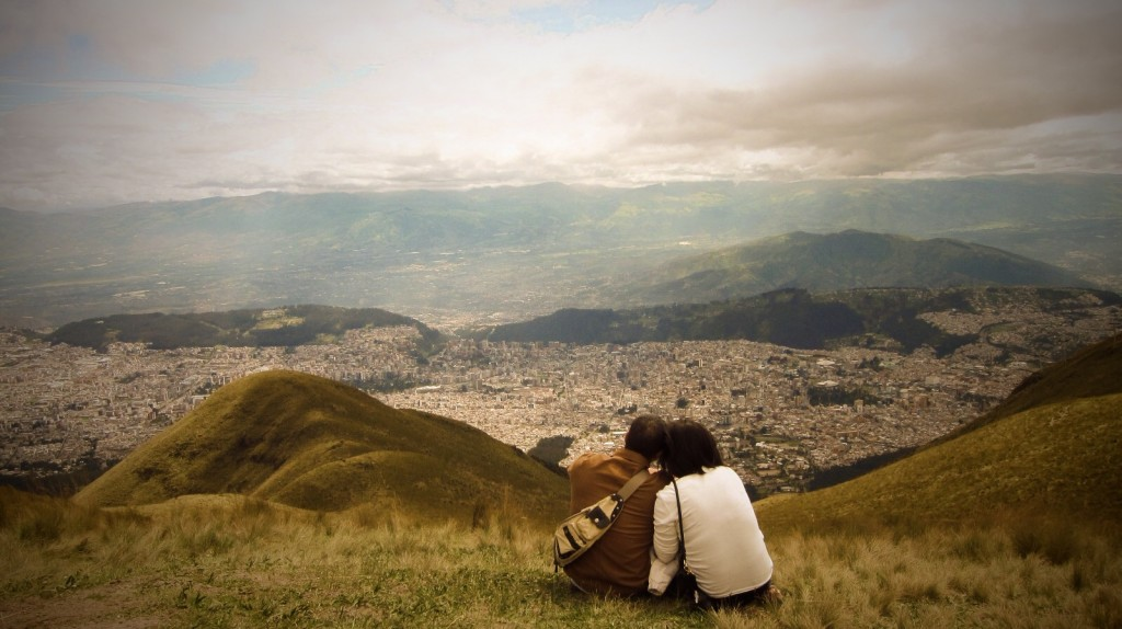 Sitting on the slopes of Pichincha volcano above Quito.