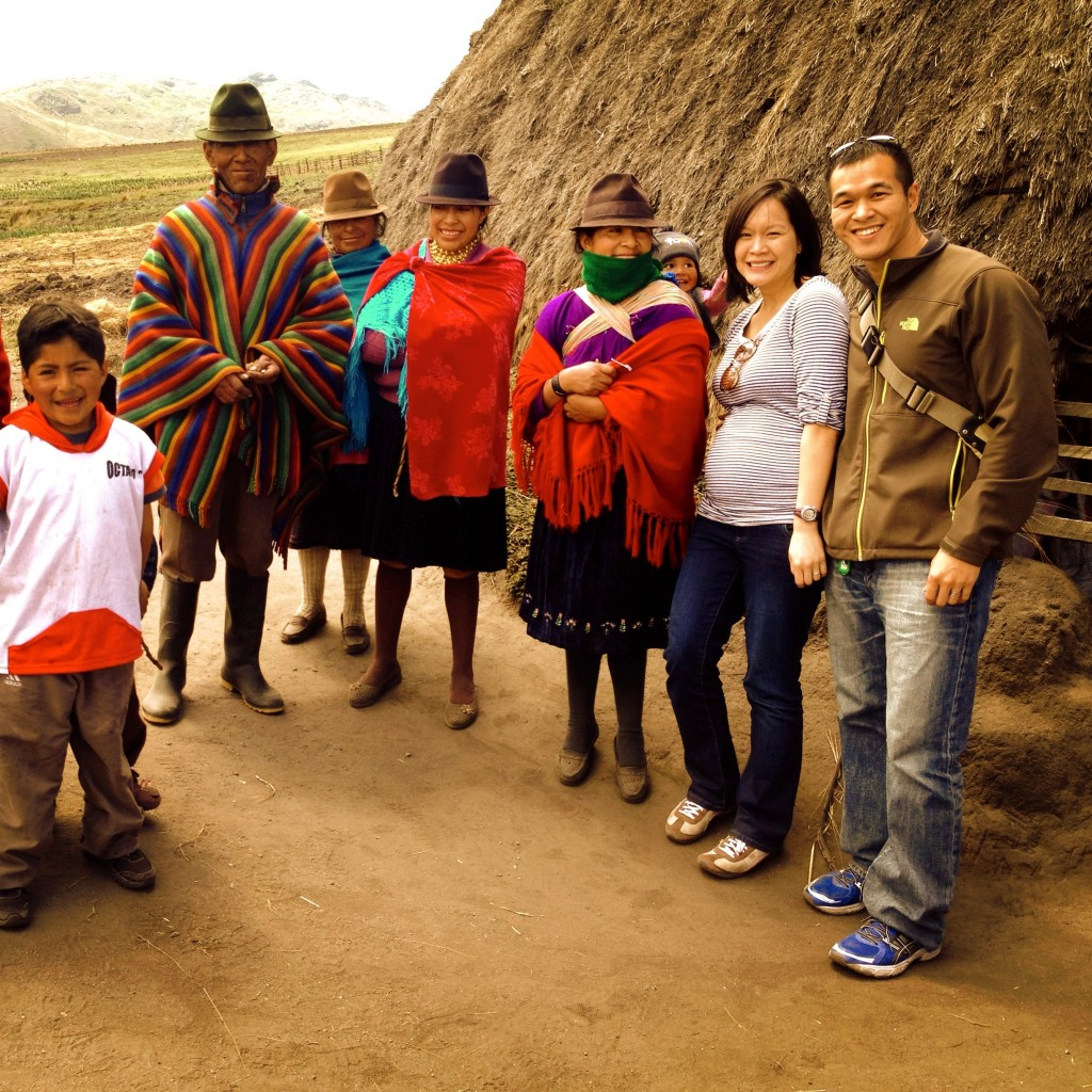 Irene and I visiting a lovely Kichwa family in the mountains.