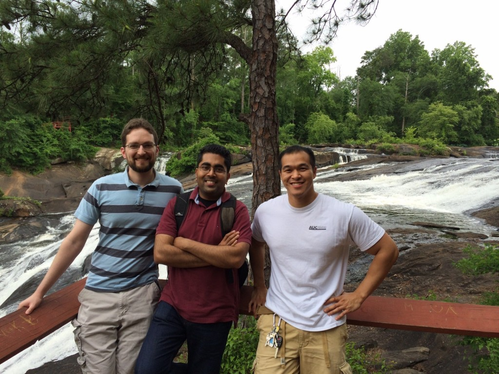 Chris, Arif, and me at High Falls.
