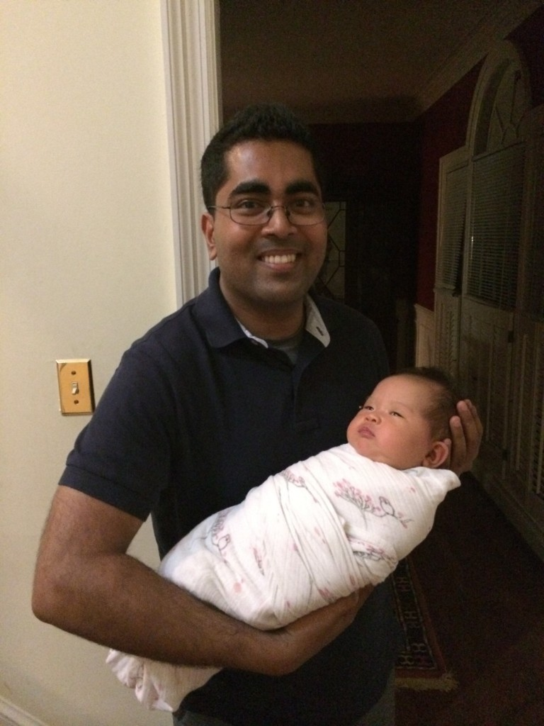 Lyra with Uncle Arif