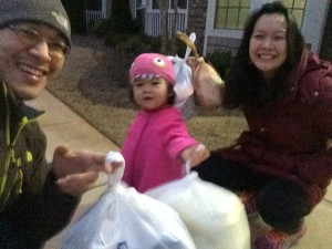 One of the things we like to do for fun is actually our nightly trips to the dumpster to dump out the trash.