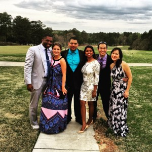 Looking sharp at Jo's wedding