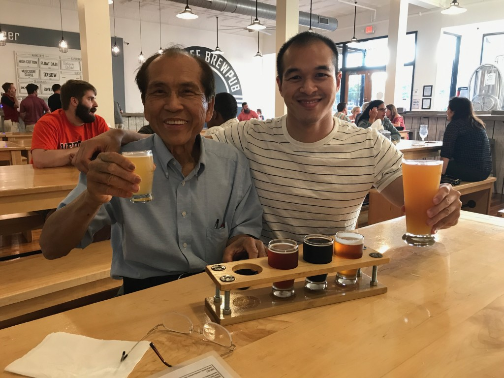 A drink with dad