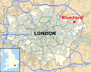 Location of Romford within London